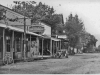 photo of main street with Odd Fellows Hall in background.