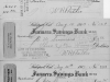 3 checks written on Farmer's Savings Bank account of William R