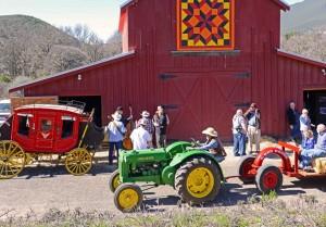 Hay rides at Ely s